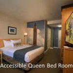 Accessible queen bed room ADA