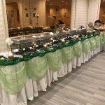 Banquet buffet food table setup